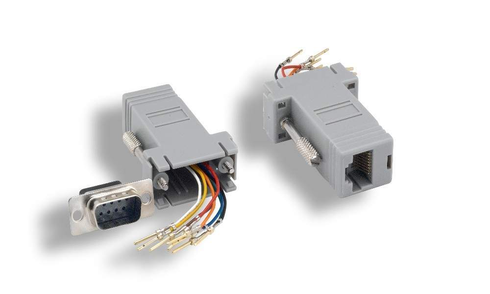 rj45 to db9 m adapter rj45 to db9 male modular adapter