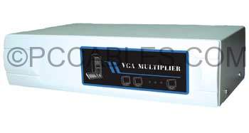SVGA AMP SPLITTER TO 4 Way Powered 400MHZ