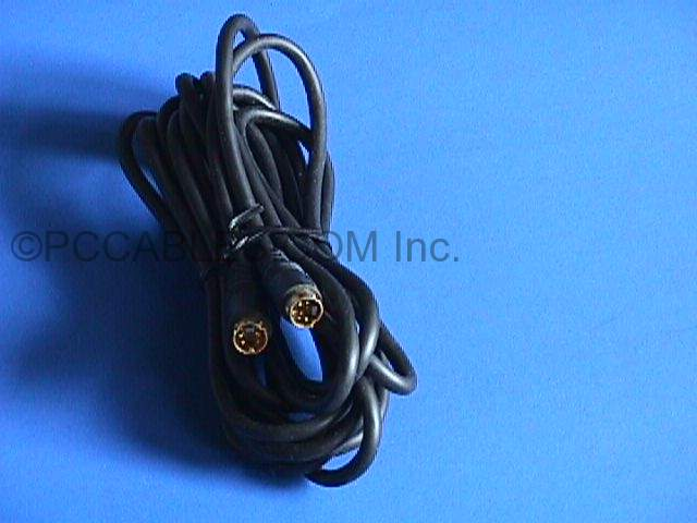 SVHS SVIDEO CABLE 4PIN MINI DIN M-M 12FT