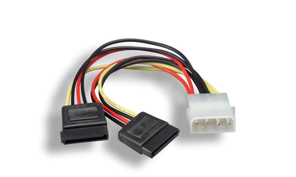 Sata Dual Power Splitter Cable 6-Inch