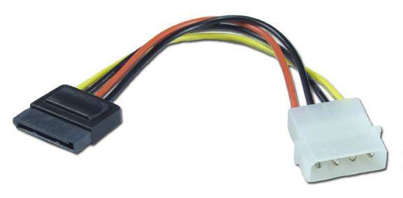 Sata Power Cable 6-Inch Molded Connector