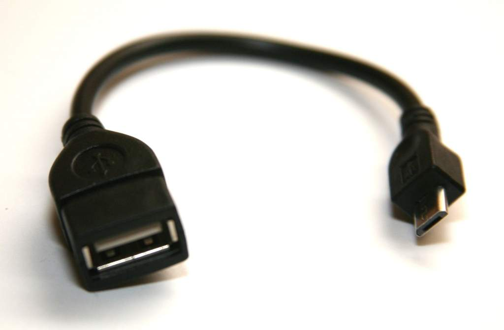 USB-A Female to Micro-B Male Converter OTG Adapter Cable