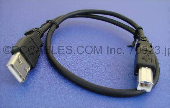 USB Cable 18 Inch 1.5 Feet Black ROHS