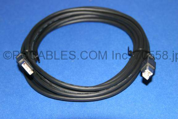USB 2.0 COMPUTER CABLE TYPE A to TYPE B BLACK 10FT