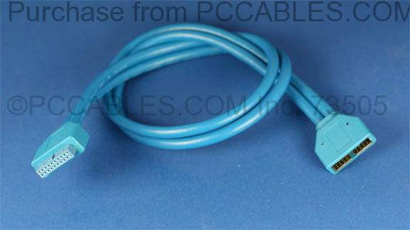 USB 3.0 Housing Cable 20 Pin Male - 20 Pin Female 20 Inch