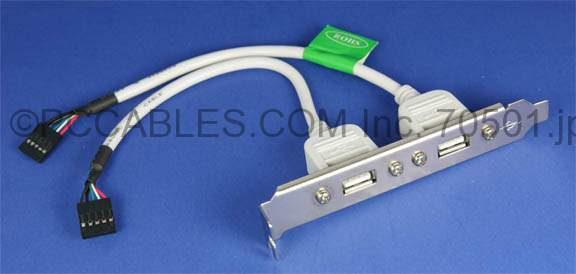USB Dual Port on Bracket 6 Inch (USBSC-25)