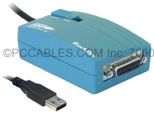 USB Game Port Adapter DB-15 to USB, P/N: 168199 Compatible