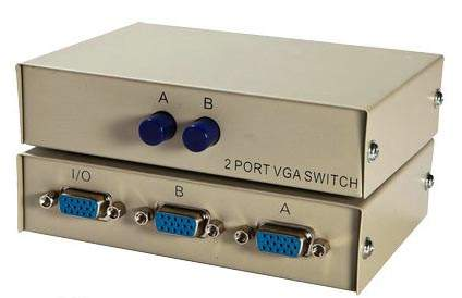 VGA HD15 AB Switch Box Push Button