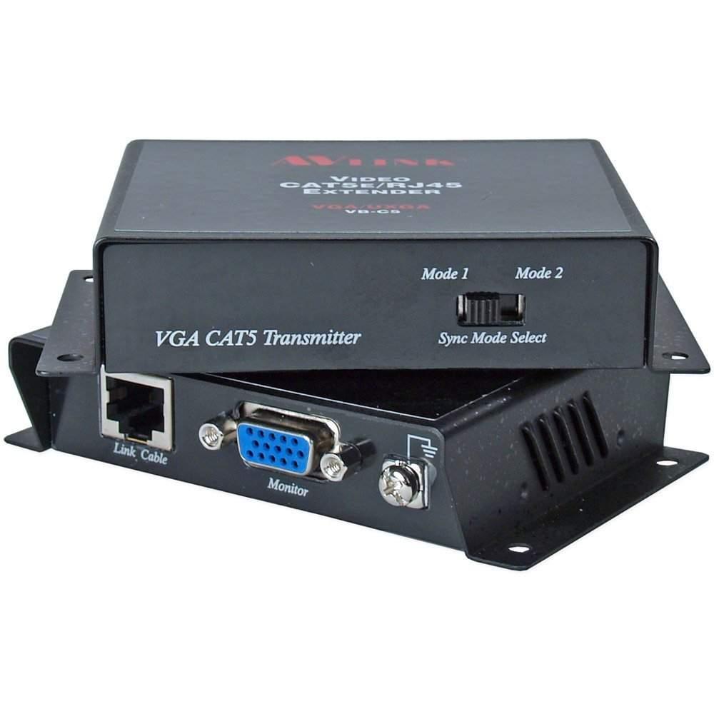 100 Meter VGA UXGA Over CAT5 RJ45 Extender Kit VB-C5