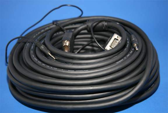 100FT SVGA with AUDIO Cable UL2919 HD15 Male to Male
