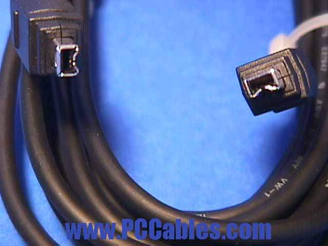 10FT FIREWIRE CABLE BLACK 4PIN 4PIN