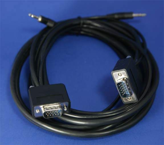 10FT SLIM VGA Monitor Cable with Audio  Male to Male