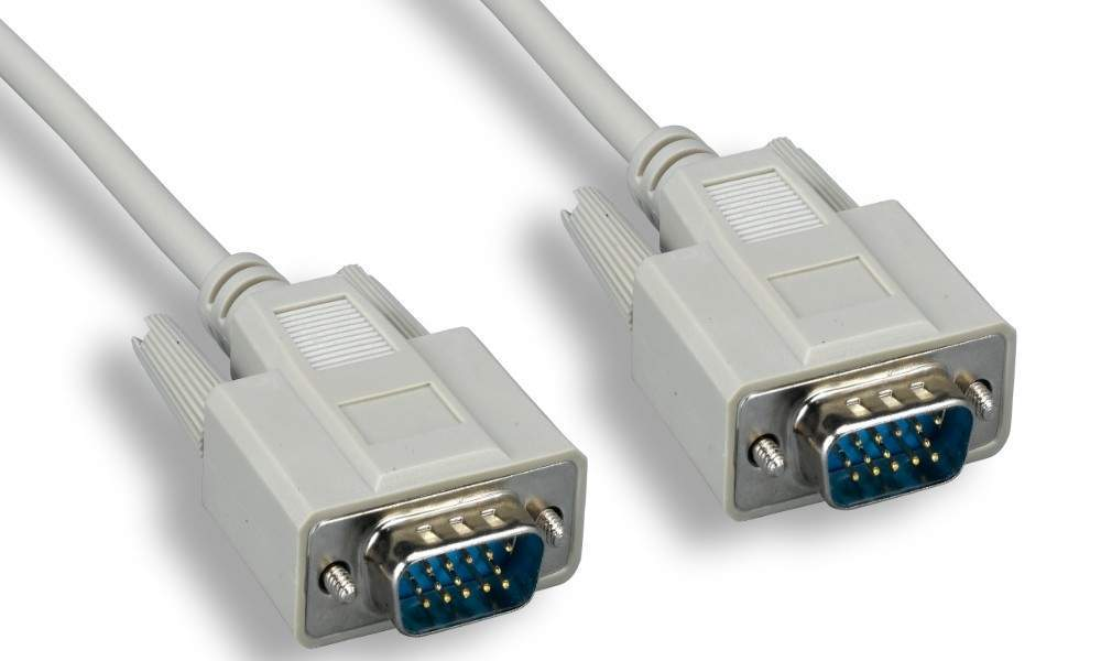 10FT VGA Monitor Cable HD15 Male to Male Beige