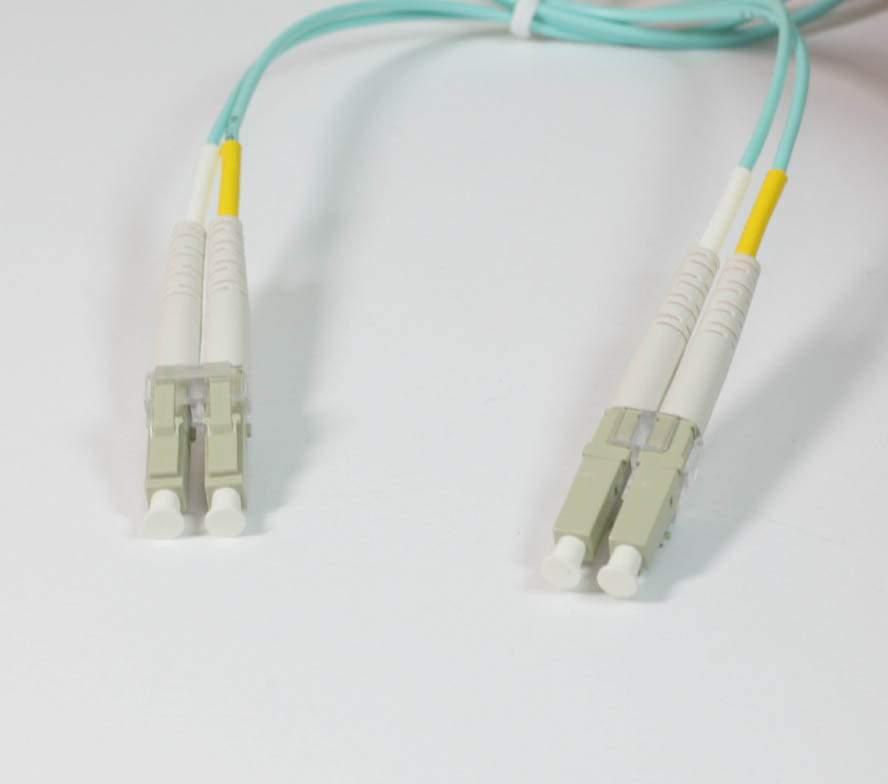 10Gb Duplex Multimode 50 125 OM3 Fiber Patch Cable LC-LC Aqua 1M