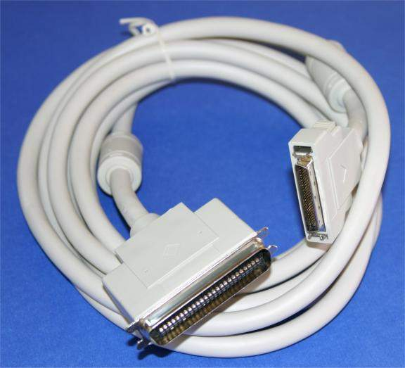 12FT SCSI-II HPDB50-M Latch to SCSI-I CN50-M