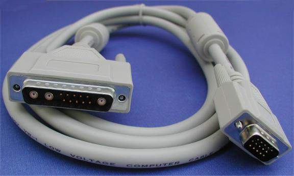 13W3-M TO HD15-M 6FT IBM CABLE