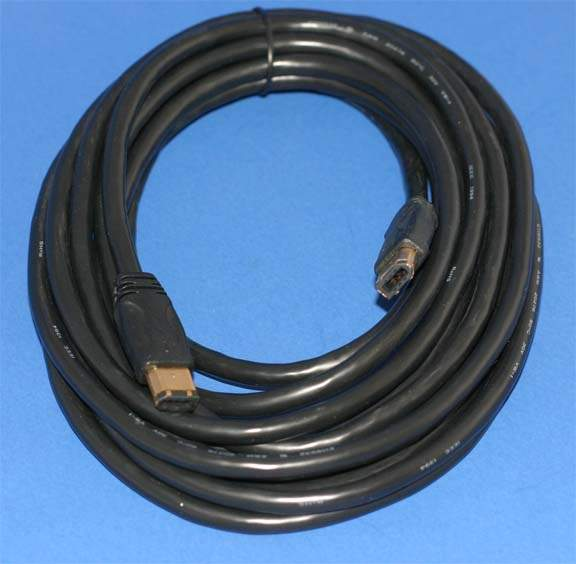 15FT BLACK Firewire Cable 6PIN 6PIN