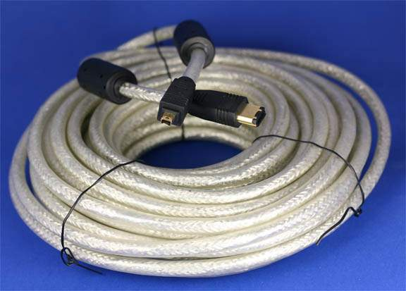 15M 50FT FIREWIRE CABLE 6PIN 4PIN
