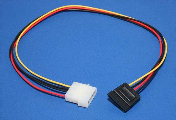 18 Inch SATA Power Cable Molex
