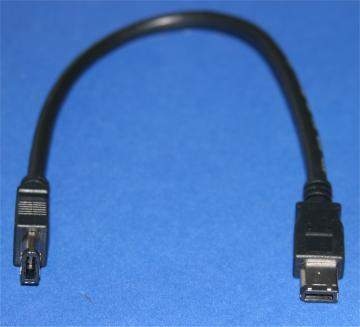 1FT Firewire Cable Black 6PIN 6PIN