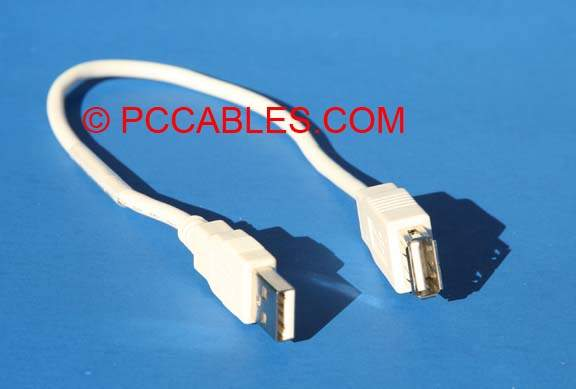 1FT USB EXTENSION CABLE TYPE A-Male to TYPE A-Female