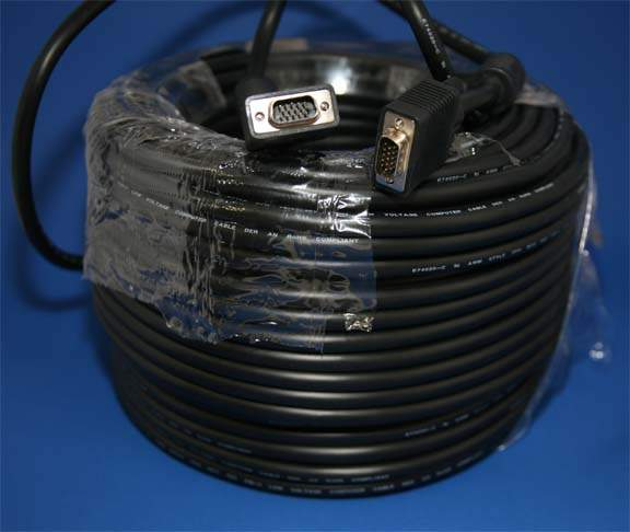 200FT SVGA CABLE MONITOR HD15 Male to Male UL2919 200 Feet