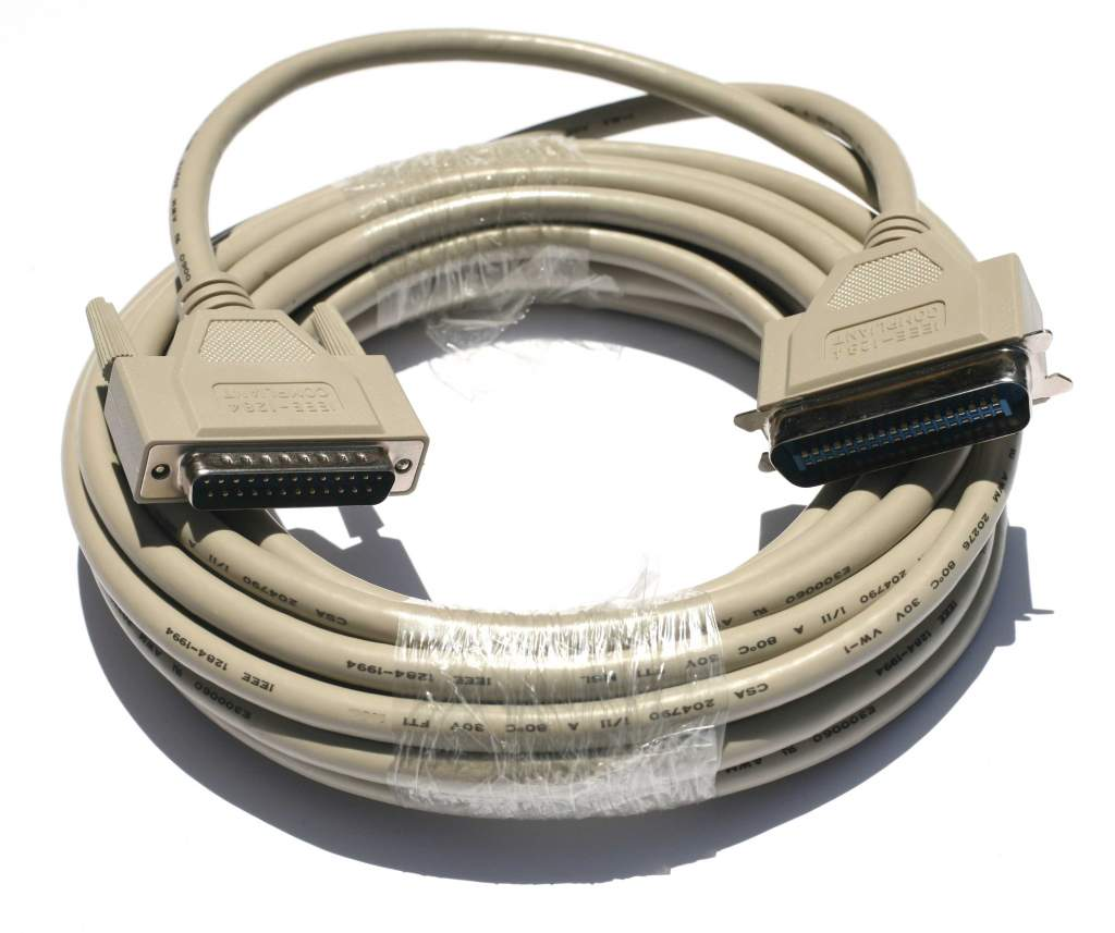 25FT Parallel Printer Cable A-B