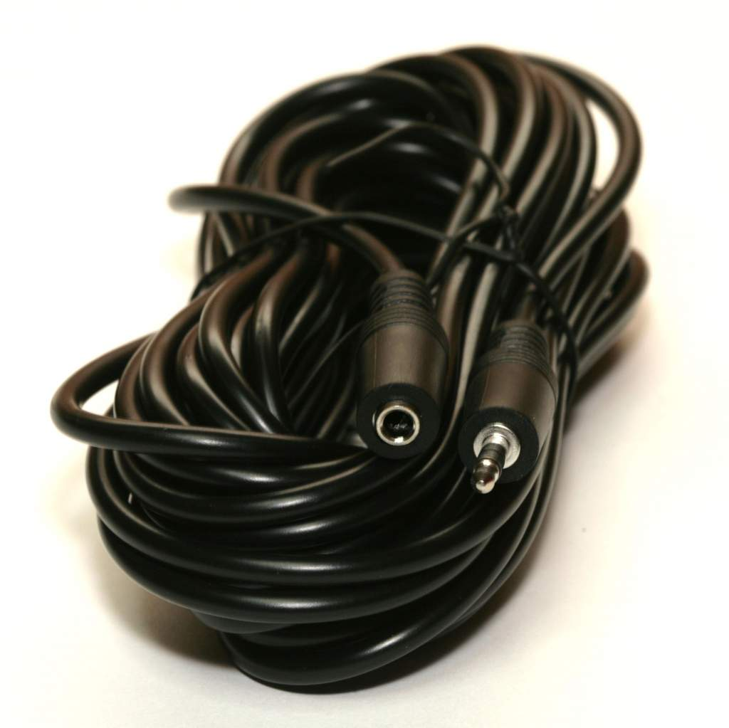 25FT STEREO SPEAKER EXTENSION CABLE 3.5mm PLUG JACK Male to Female 25FT