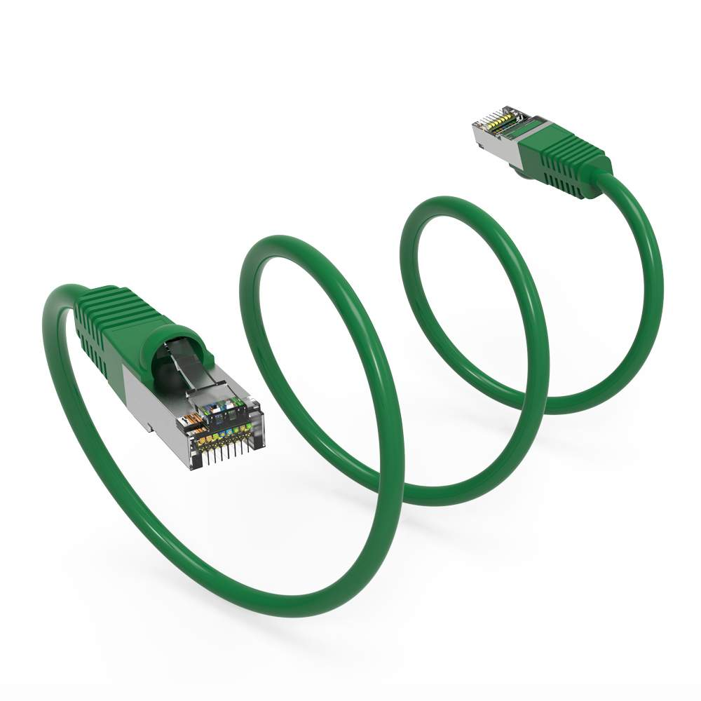 25ft Cat6 Snagless Shielded (STP) Network Patch Cable Green