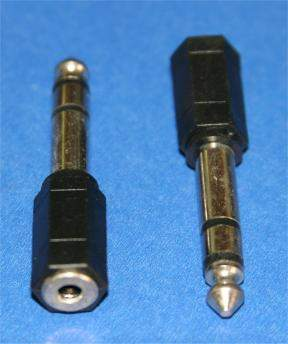 3.5mm 1/8 STEREO JACK-F to 6.3mm 1/4 STEREO PLUG-M Adapter