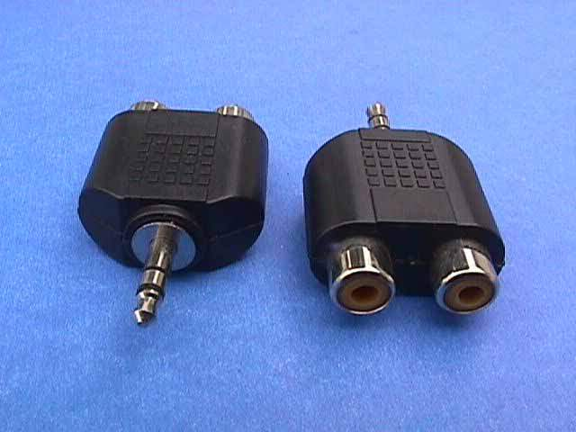 3.5mm STEREO JACK M to 2 RCA F Adapter