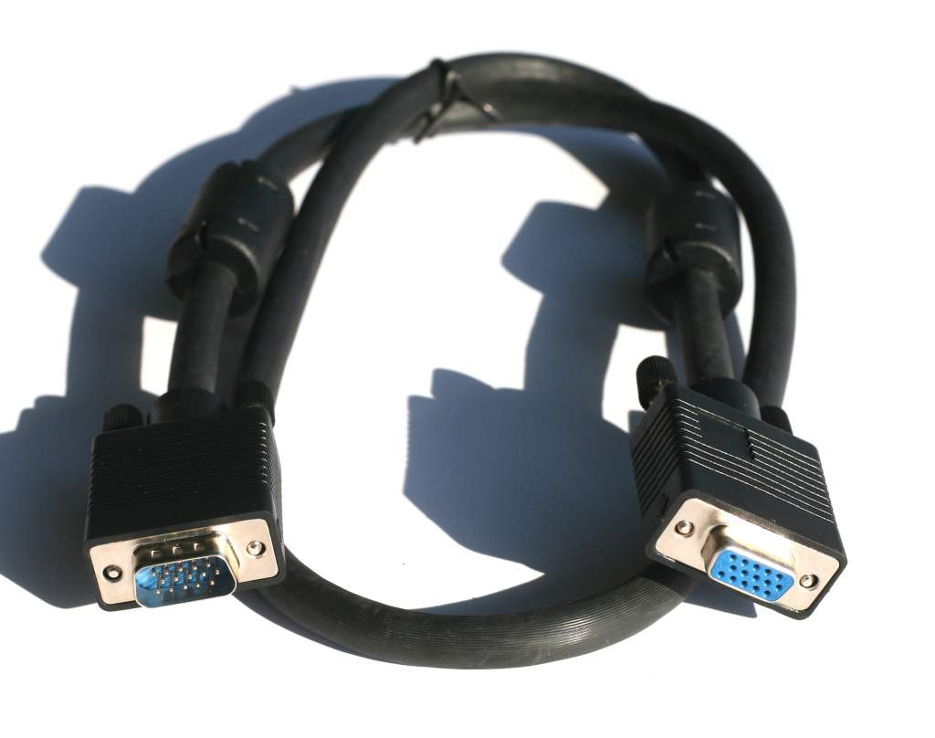 3FT SVGA CABLE MONITOR UL2919 HD15 EXTENSION Male to Female
