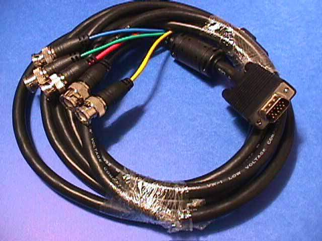 5 BNC TO SUPER VGA HD15-M CABLE 10FT
