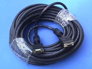 50FT SVGA CABLE MONITOR UL2919 HD15 EXTENSION Male to Female