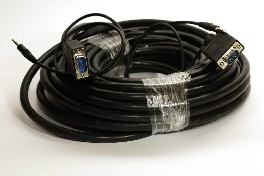 50FT SVGA with Audio CABLE MONITOR UL2919 HD15 3.5mm Male to Male