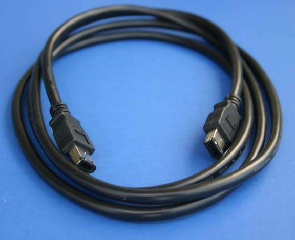 6FT Firewire Cable Black 6PIN 6PIN 1394A