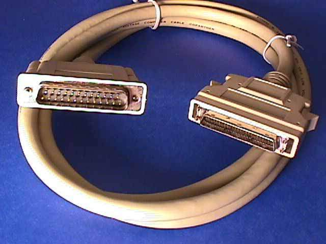 6FT SCSI-II HPDB50-M Latch to DB25-M Cable