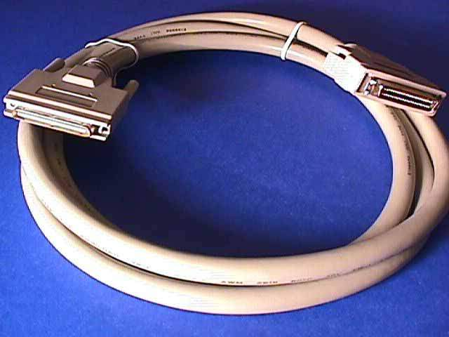 6FT SCSI-V VHDCI68-M 0.8mm TS to SCSI-II HPDB50-M LATCH