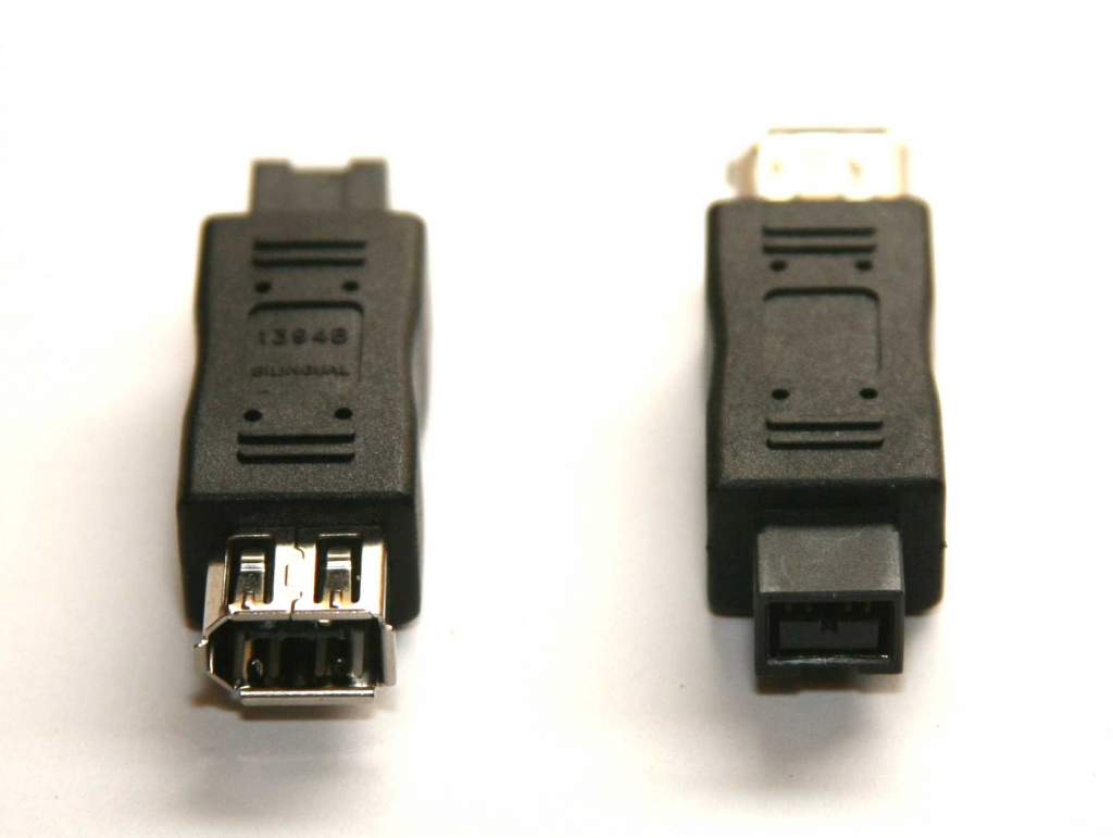 9 Pin Male to 6 Pin Female Adapter Firewire 1394b to 1394a