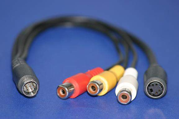 ATI All in Wonder MiniDin8 to 4 Head Video CABLE AV In