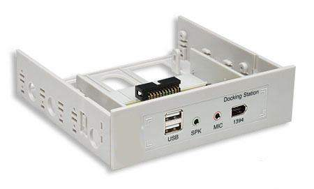 Audio-Firewire-USB FRONT 5.25 3.5 Panel