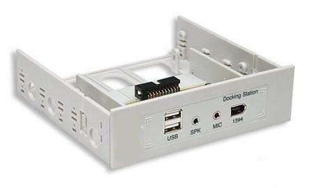 Audio-Firewire-USB FRONT 5.25 3.5 Panel