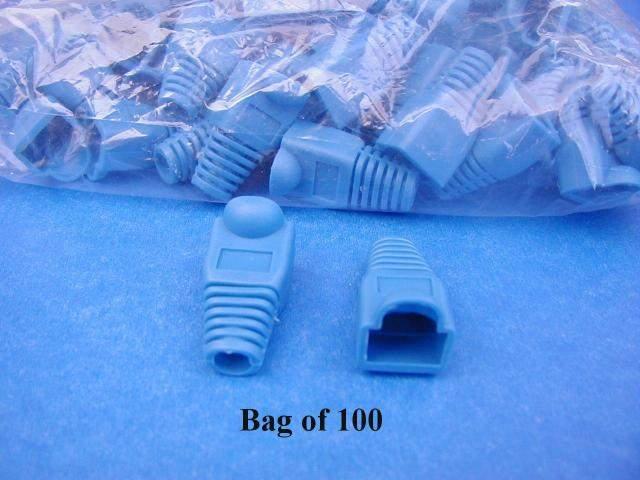 BLUE SNAGLESS BOOT RJ45 100 Pack