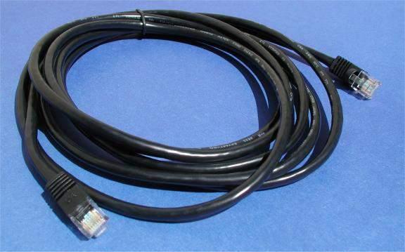 CAT 5e BLACK 10FT RJ45 NETWORK CABLE