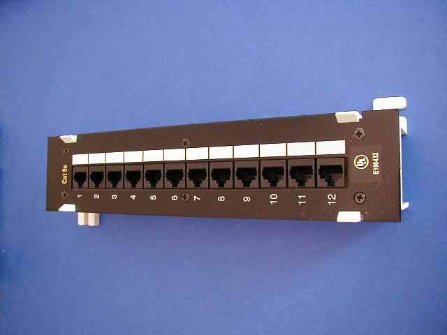 CAT5E Patch Panels 12 Port Punch Down 110 Wall Mount