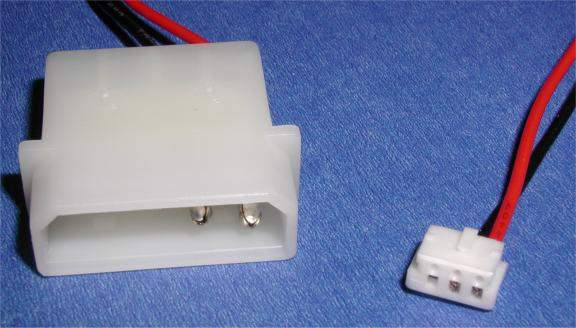 CPU FAN Intel Small 3-Wire to Molex 4-Wire Power Cable