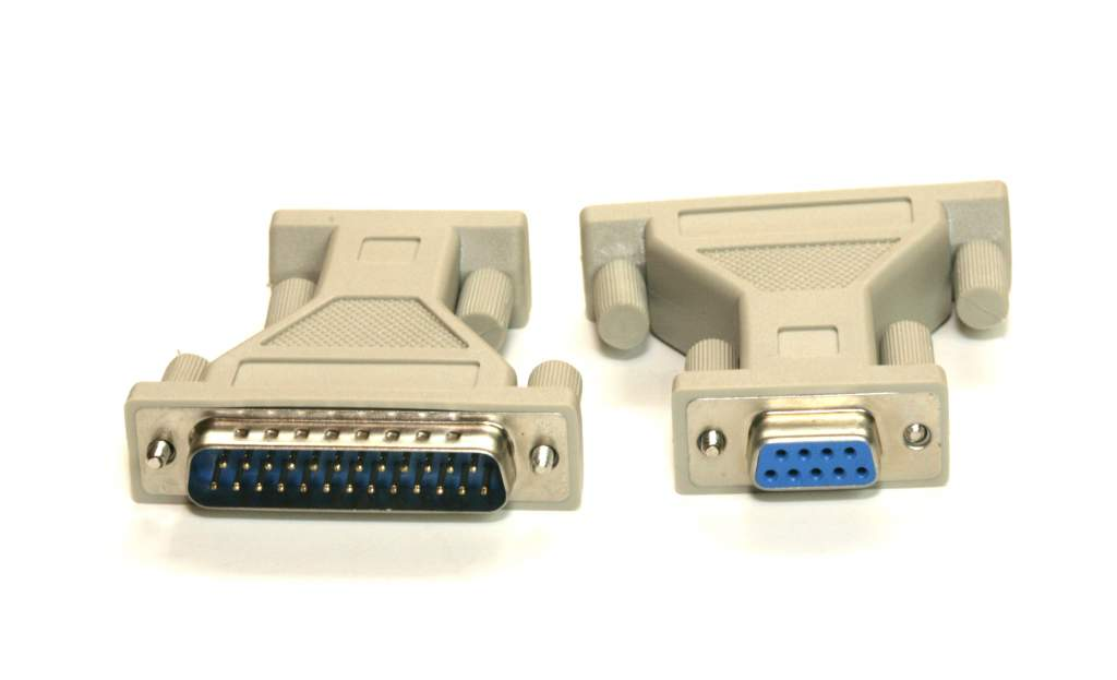DB9-F to DB25-M Serial Adapter