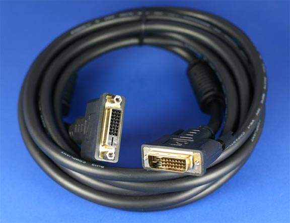 DVI EXTENSION CABLE DVI-D-M to DVI-D-F 2M 6FT