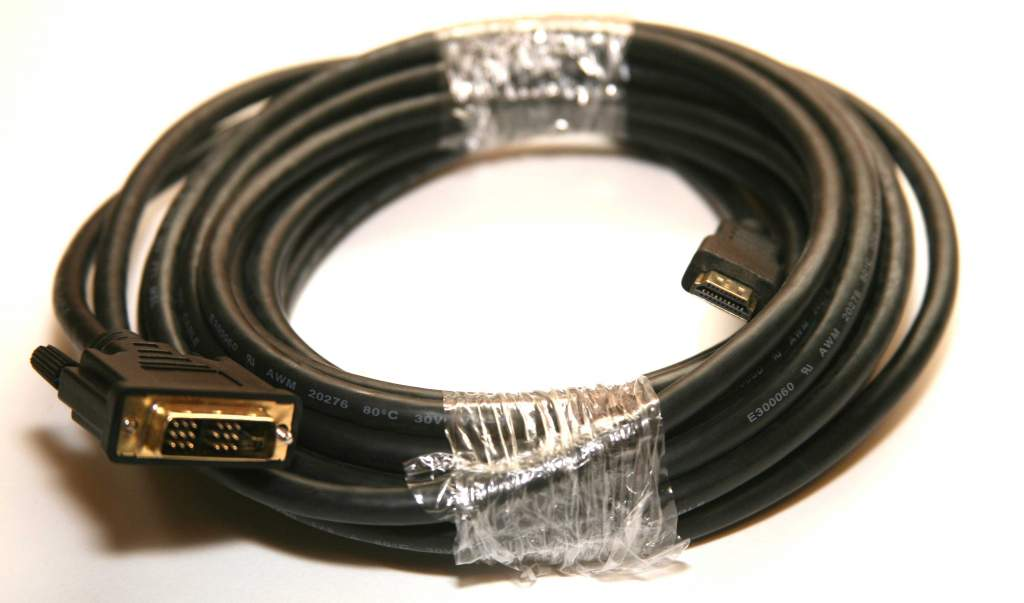 DVI HDMI Cable PREMIUM 25FT 24AWG