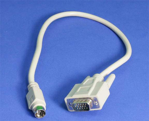 Hd15 To Mini Din 9 Minidin9 Adapter Cable Vga Pccables Com